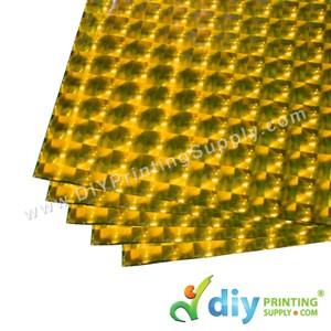 3D Wrapping Paper (30 Micron) (Gold) (46.5 X 67cm) (5 Pcs/Pkt)