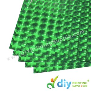 3D Wrapping Paper (30 Micron) (Green) (50 X 70cm) (5 Pcs/Pkt)