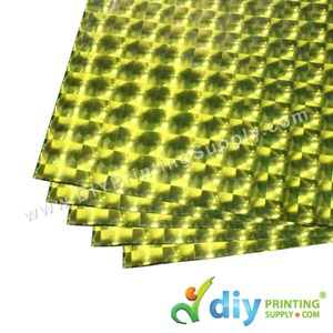 3D Wrapping Paper (30 Micron) (Orange) (50 X 70cm) (5 Pcs/Pkt)