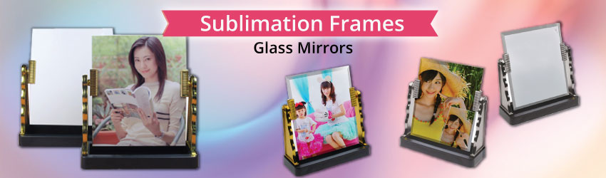 Supply sublimation glass mirrors with stand for heat transfer printing. Nice wedding gift ideas with personalized wedding photo printing on it. Buy now.