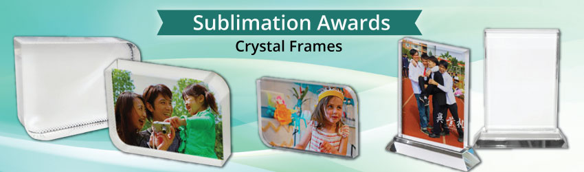 No more crystal film, UV glue and UV light. Try sublimation crystal frames that allow you to direct heat transfer printing on the surface. Fast, easy & durable!