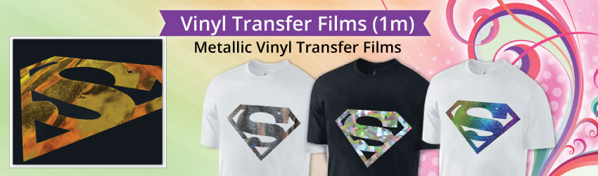 Direct importer for all kinds of vinyl transfer films such as hologram, PU, flock etc. Get a cutting plotter to cut them easily and heat it on your fabrics now!