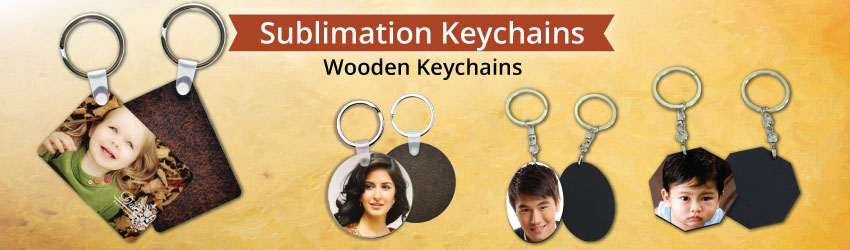 Don't like metal keychains? Try the new wooden keychains with a ring for sublimation printing. Nice gift ideas for corporate gifts, personalised gifts etc.