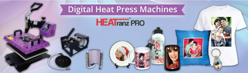 Get flat heat press machine mainly for your small T-shirt printing business and other 'flat' imprintable blanks such as puzzles, cushions, tiles etc. Grab now.