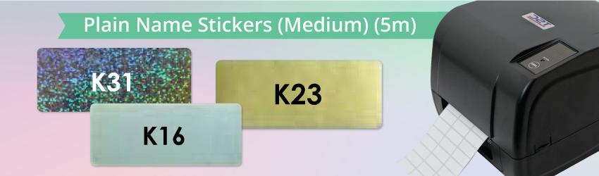 Plain Name Stickers (Medium) (5m)