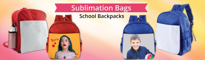 Supply backpack bag for sublimation printing. On the front cover of our backpack bag, you can print any picture and make it a just-one-piece in the world.