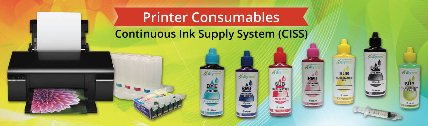 Continuous ink supply system also known as a continuous flow system, an automatic ink refill system or a bulk feed ink system. Save printing cost from TODAY.