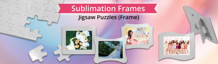 Supply sublimation jigsaw puzzles for heat transfer printing. All jigsaw puzzles are already precutted. So you just print picture on sublimation paper and heat.