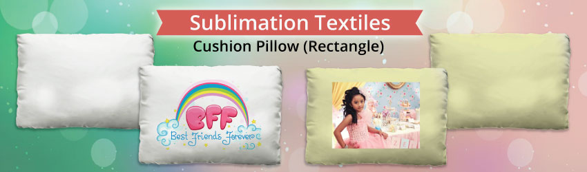 Supply sublimation cushion pillow (Rectangle) for heat transfer printing. Cushion pillow is provided separately.