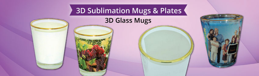 3D Glass Mugs