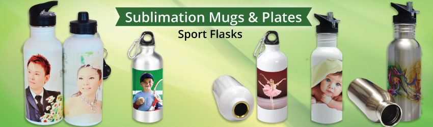 Supply sublimation sport flask or thermos flask for heat transfer printing. Stainless steel water bottle for athletic or sportmans in sports events. Buy now.