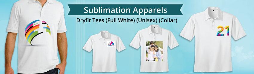 Dryfit Tees (Unisex) (Full White) [Collar]