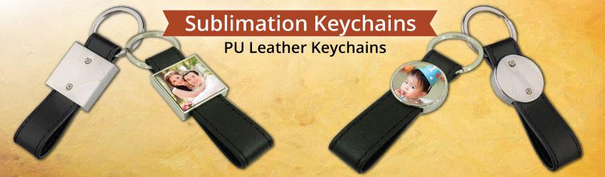 PU Leather Keychains