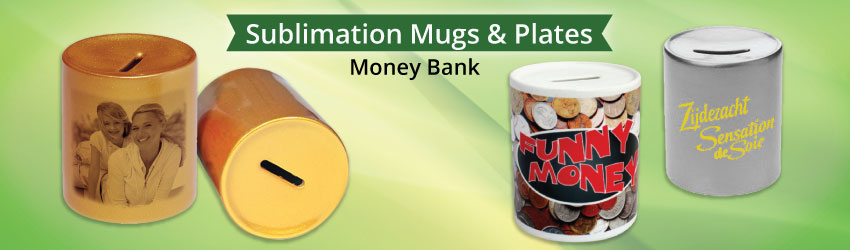 Suppy money bank or piggie bank for sublimation printing. Suitable for child to save their money since they are young. Learn more tips on how to save money.