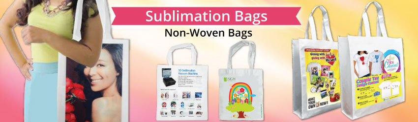 Supply sublimation non woven bag that can be printed both sides with sublimation printing. Eco-friendly, convenient and practical. Suitable for sales promo.