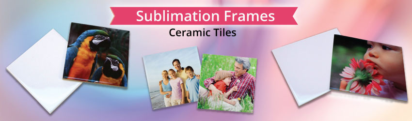 Supply sublimation coated ceramic tile for sublimation printing. Variety sizes available such as 11x11cm, 15x15cm, 20x15cm, 20x20cm. Guaranteed nice printing.