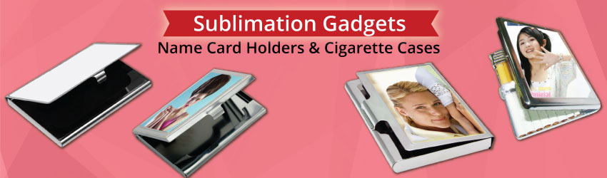 Supply sublimation name card holders, cigarette & pill cases for heat transfer printing. Suitable for corporate and business gifts. Profitable case printing biz