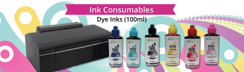 The dye in the dye-based ink dissolves in water like sugar does in water completely. Suitable for normal document printing on inkjet paper, photo paper etc.