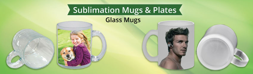 Supply glass mugs or beer mugs in clear or frosted effect on the surface. Specially made for sublimation printing. Direct importer from China at cheaper price.